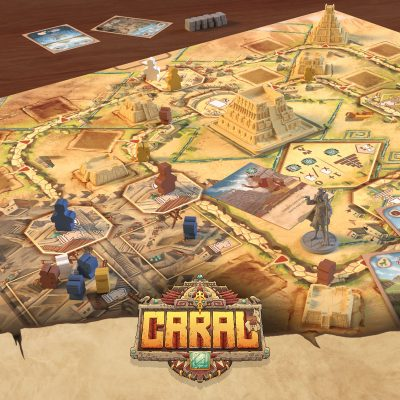 Be the first at the central pyramid!