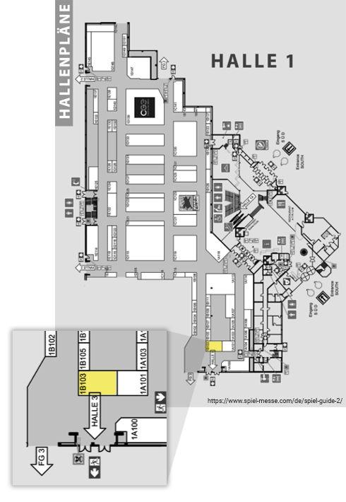 SPIEL Essen Halle 1 Funtails Stand